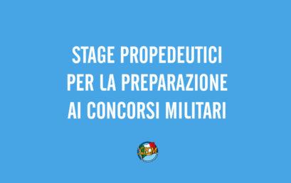 Stage Propedeutici per la Preparazione ai Concorsi Militari